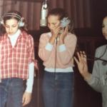 Camille, age 10 - in recording studio for Little Ladies album session