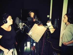 Singing back-up for Jann Arden alongside daughter Ruby and sister Saffron.