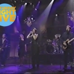 Performing on Saturday Night Live, alongside Sarah McLachlan.